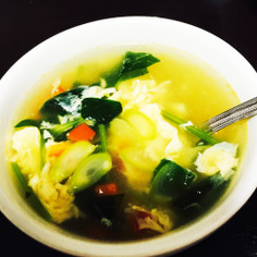 ズボラかーちゃんの手抜き卵野菜スープ
