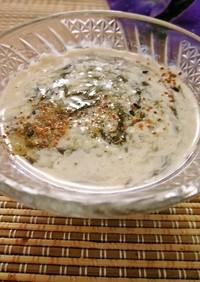 即席☆市販もずく酢でとろとろ豆乳スープ