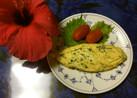 小松菜.玉ねぎ.チーズでふわとろオムレツ