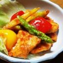 簡単☆鶏胸肉とパプリカのケチャップ炒め♪