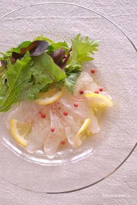 レモン酢使用☆鯛のカルパッチョ