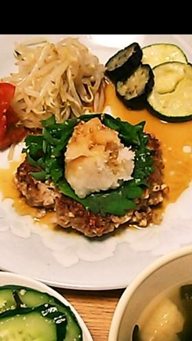 ふわカリ簡単!夏もさわやか豆腐ハンバーグ