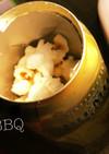 BBQ☆【簡単】空き缶でポップコーンを♪