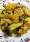 鶏むね肉と大きめ野菜のバターカレー炒め☆