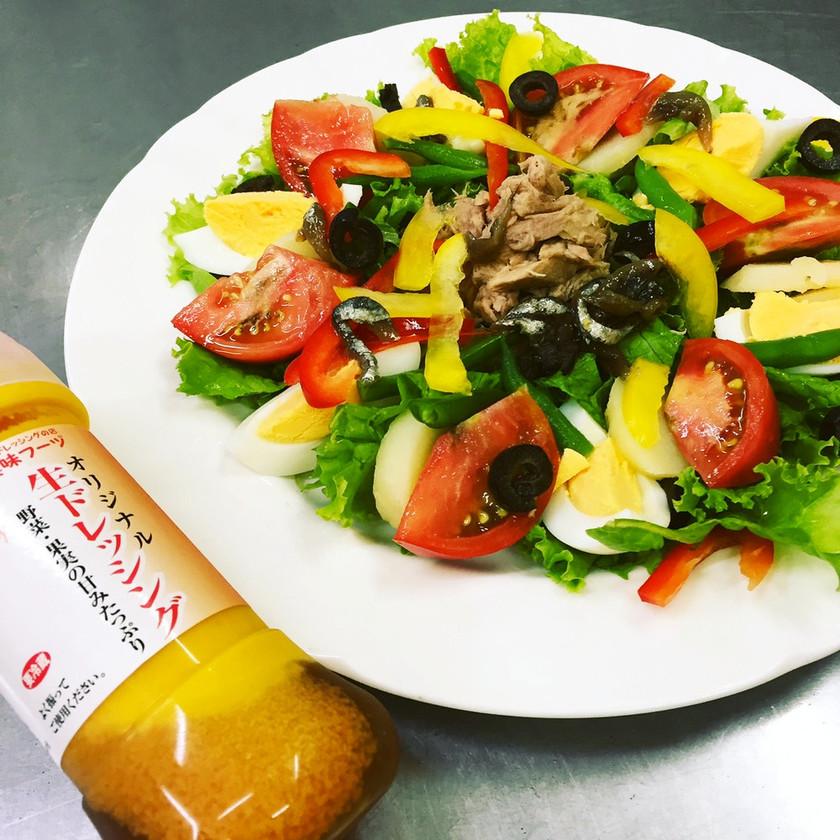 自家栽培野菜のニース風サラダ