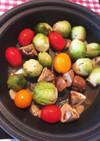 タジン鍋で野菜をスパイスと一緒に炊いたん