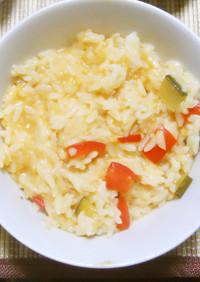 自然栽培 トマトのリゾット風チーズ雑炊