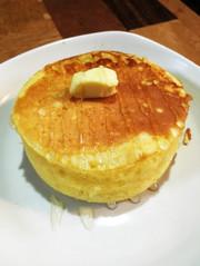 【サクッフワッ】な分厚いホットケーキの写真