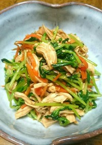 鶏ささみと豆苗の中華サラダ