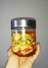 桃とキウイの蜂蜜漬け