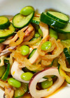 簡単☆枝豆とボイルイカともやしのサラダ♪