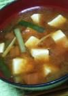 ☆ニラとトマトのお味噌汁☆