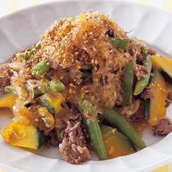 牛肉と夏野菜のチャプチェ