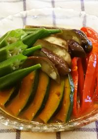 時短&作り置き♪ 夏野菜の 揚げ浸し風❀