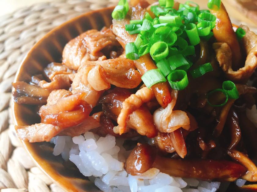 ガッツリ豚きのこ丼
