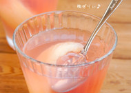 季節のデザート☆桃のソーダゼリー