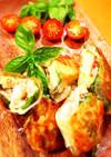 トマトとバジルとモッツァレラチーズの春巻