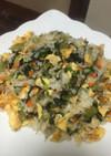 野沢菜炒飯