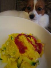 ズッキーニのスクランブルエッグの写真