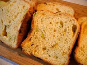 HB☆枝豆チーズのオリーブオイル食パン
