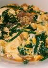糖質カット、 ニラ入り肉豆腐の卵とじ