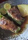 ピーマンの肉詰め照り焼き風味
