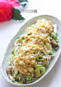 簡単♪ノンオイル和風味✿夏野菜で棒々鶏✿