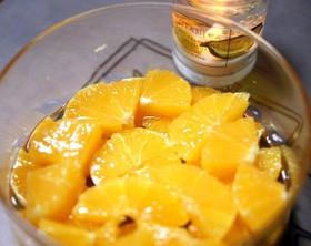 オレンジの蜂蜜漬け