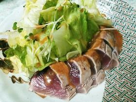 簡単☆鰹のたたきのサラダ 酢味噌タレ