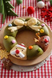HMで!クリスマスリースちぎりパンの写真