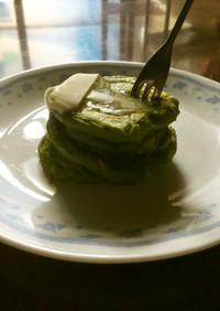分厚い豆腐白玉ホットケーキ