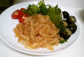 中華 くらげ 前菜 (塩クラゲ 戻す)