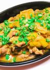 【絶品】焼肉のタレで定番☆肉かぼちゃ炒め