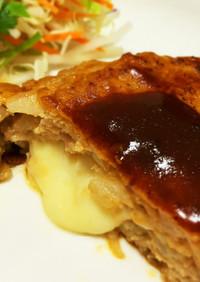 簡単とろーりチーズin♡基本のハンバーグ