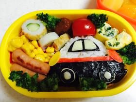 8月のお弁当パトカー☆保育園
