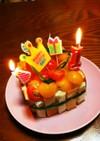 食パン野菜ケーキ(シャルロット風)離乳食