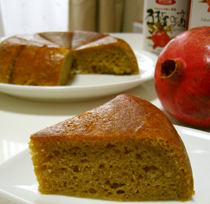 妊活ザクロの炊飯ケーキ