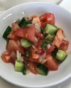 冷製トマトときゅうりのロミロミサラダ