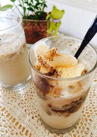 簡単!クラッシュコーヒーゼリー&milk