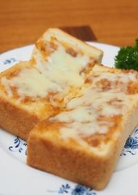 粒味噌のトースト