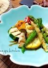 たっぷり焼き彩野菜*バルサミコ酢かけ