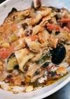 お弁当にも!夏野菜トマト、ナスグラタン