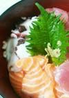 簡単☆海鮮丼 アオサ汁 時短 ヘルシー