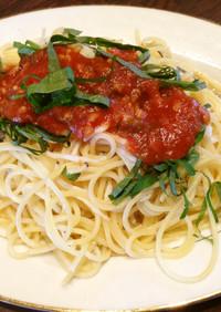 シラウオとトマト塩糀の和風パスタ