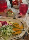 インスタントラーメンでサラダ麺