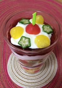 1歳☆誕生日☆ご飯・ケーキ代わりにパフェ