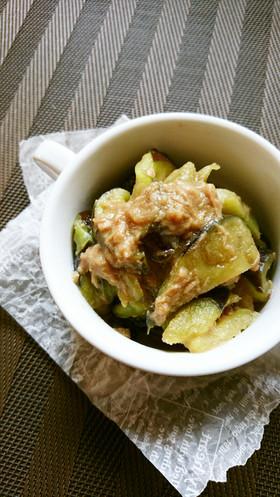 レンジで簡単☆茄子のツナ味噌炒め。