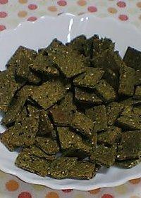 緑のおからクッキー