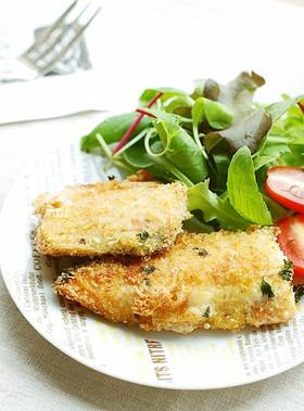 子供もパクパク♬鮭のチーズパン粉焼き