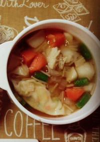 1歳からのꉂ超簡単ワンタンスープ